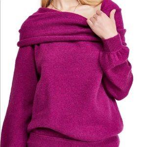 Free People Echo Beach Pullover Sweater Medium